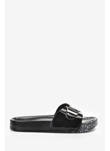 Vizon Ayakkabı Terlik Siyah